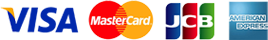 VISA/MasterCard/JCB/AmericanExpress